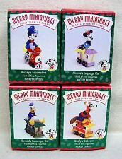 "Hallmark Merry Miniatures Figurine Set of 4 ""Mickey Express"" 1998"