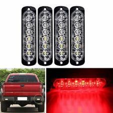 4X 12/24V 6 LED Emergency Strobe Beacon Flash Strobe Amber Light Car Truck Red