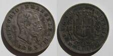 ITALIA , 1 LIRE DE 1863 . PLATA