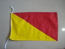 "O - Naval Signal Flag - 100% Cotton – Marine Code - 8"" X 13"" - Nautical / Boat"