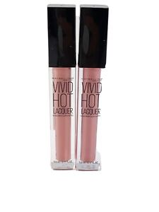 2X Maybelline Color Sensational Vivid Hot Lacquer #66 TOO CUTE Lipstick New