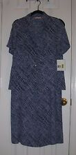 NWT ~ LIZ CLAIBORNE Blue & White Skirt and Top ~ SZ 8