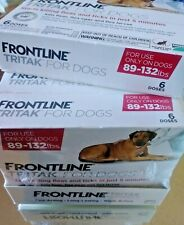 FRONTLINE TRITAK Flea & Tick for Dogs 89-132 lbs 6-dose **SEALED NEW IN BOX**