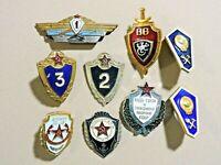 Vintage badges of Soviet Russia 9 PCs. USSR ORIGINAL 100% Lot #19