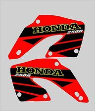 2000-2001 HONDA CR 250 RADIATOR SCOOP GRAPHICS, DECALS, STICKERS