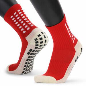 Men's Anti Slip Football Socks Athletic Long Socks Absorbent Sports Grip