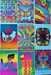 Vintage Peter Max Posters, 11x16, Psychedelic Pop Art, 50 years old, 46 options