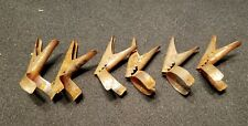 Primitive Antique Metal Christmas Tree Candle Holder Clips - Rusty Lot of 6 - C