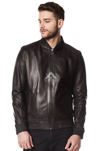 Bradley Cooper Guardian Of The Galaxy Perforated Black Real Leather Jacket A-08