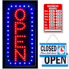 Vertical Led Neon Open Sign by Ultima Led: Bundle for Business, Includes 3 Signs