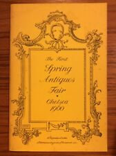 Vintage 1960 CHELSEA LONDON First Spring Antiques Fair Catalogue