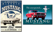 2 x Classic Ford Mustang Fridge / toolbox magnets, retro design set, great gift!