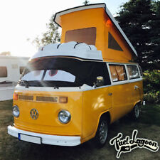 VW T2 Bay Window Campervan Screen Cover Black Out Blind Curtain Wrap Eyes