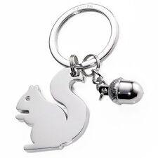 Troika Metal Keyring GIRLS BEST FRIENDS SQUIRREL acorn key chain ring cast alloy