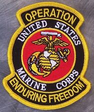 Embroidered Patch Gulf War Operation Enduring Freedom Marine Corps Emblem NEW