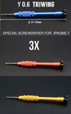 3PCS 0.6mm Tri Wing Screwdriver Y Tip Tool For iPhone 7 plus Screw Driver Repair