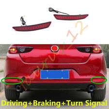 Fit For Mazda 3 Sedan 2019-2020 Rear Bumper Light With DRL+ Brake + Turn Signal