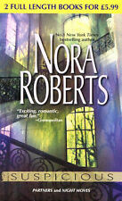 NORA ROBERTS __ SUSPICIOUS __-TWO BOOKS IN ONE ___ BRAND NEW ___ FREEPOST UK