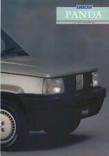 FIAT PANDA 750l 1000 CL SUPER 4x4 1987-89 ORIGINALE UK SALES BROCHURE