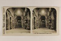Italia Palermo Chiesa Del Gesù c1925 Foto Stereo Vintage Analogica