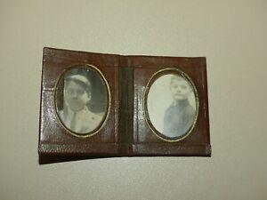 Pochette porte photo miniature thème religieux pour 2 photos d'identité