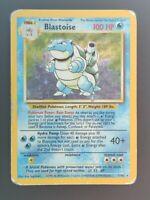 Blastoise 2/102 Rare Holo Pokemon Card Original Base Set WOTC Played Condition