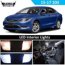 White LED Interior Light Replacement Kit for 2015-2017 Chrysler 200 11 bulbs