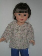 "Colorful Fuzzy Knit Sweater for 18"" Doll Clothes American Girl"
