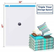 8 PACK Jumbo Extra Large Space Saver Vacuum Seal Storage Bag Strong Organizer XL