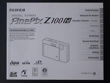Fujifilm FinePix Z100fd Bedienungsanleitung Z100 fd Handbuch Gebrauchsanleitung