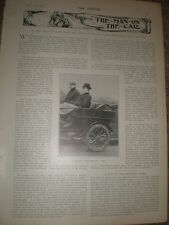 Photo article Parsons non skidding motor car tyre 1903 rf Z