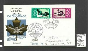 Germany 1976 Olympic Games FDC