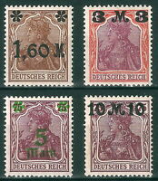 DR Germany Reich Rare WWI WWII Stamps '1921 Germania Overprint Classic Full Set