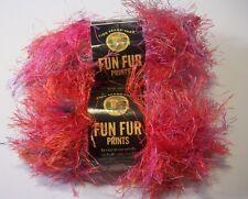 Lion BRAND Yarn Fun Fur Prints Mango 1 Ball 57 Yards 100 Polyester