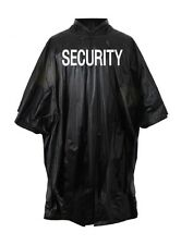 3687 Rothco Black Vinyl Security Poncho