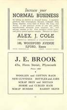 1937 S Pear Mitre Works Je Brook Plymouth Alex Cole Ilford Scrap Ad