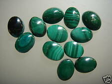 Cabochon Gemstone Malachite 6 x 8 mm Oval  (Pkg 15) Authentic Real NOT dyed