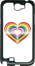 Valentine's Rainbow Heart Collage Samsung Galaxy Note II 2 Hard Case Cover