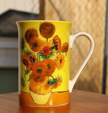 Sunflowers Vincent Van Gogh 10oz Coffee Mug Cup Yellow Flowers by Kent Pottery