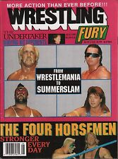 Wrestling Fury August 1991, The Undertaker, The Four Horseman VG 020316DBE