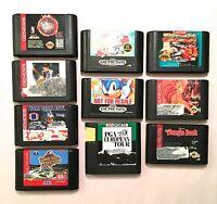 Original Sega Genesis 10 Games Total Vintage Electronics Sonic, TECMO, Baseball