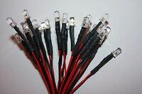 LED 5mm LEDs verkabelt 9V 12V 24V 15cm 30cm 60cm 120cm Kabel 5 mm sehr hell