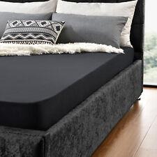 neu.haus® Drap-housse 90 - 100 x 200 cm noir100% coton