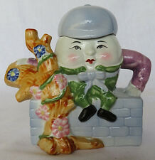 "Vtg Humpty Dumpty Decorative Teapot Made by Feitx Nursery Rhyme 7"" made in China"