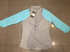 BNWT 100% Authentic Nike Womens Half Zip 3/4 Sleeve Tennis Sweater Top! Medium