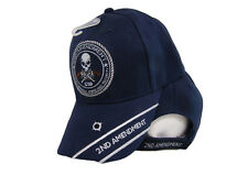 2nd Amendment Original Homeland Security 1789 Skull Blue Embroidered Cap Hat
