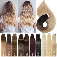 CLEARANCE 100G+ THICK Tape In Russian Remy Human Hair Extensions Skin Weft Ombre