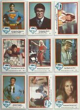 Superman The Movie - Complete Trading Card Set (77) 1978 Topps - NM