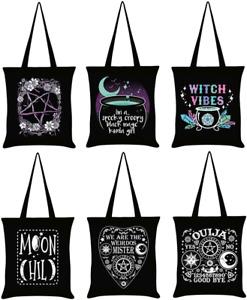 Tote Bag Spooky Creepy Magic Witch Moon Weirdos Ouija Pentagram - Uk Seller