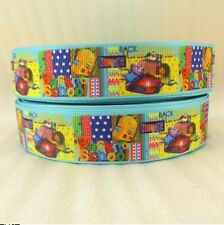 "4 yards 1"" Back to School Home Grosgrain Ribbon-Printed-Hair Bow Supply-Craft"""